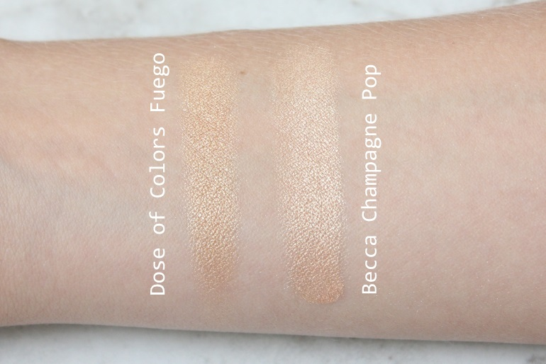 dose of colors desixkaty fuego vs becca champagne pop