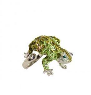 ring frog groen