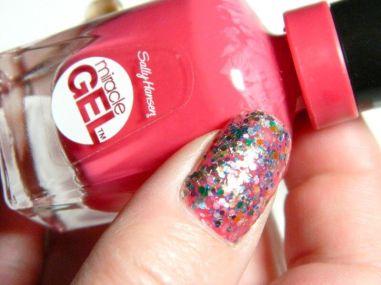 glitters met rode nagellak