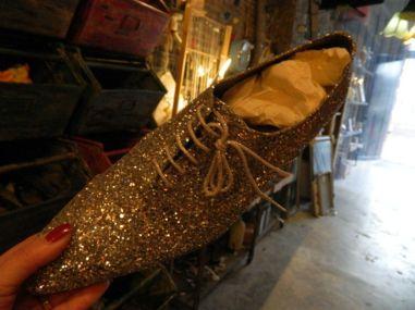 gouden glitter schoenen