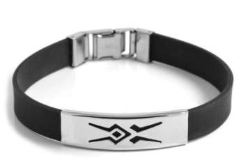 Rubber Staal Tribal Armband