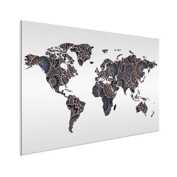 aziatische-print-zwart-roze-wereldkaart-op-aluminium