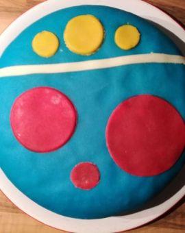 blauwe taart