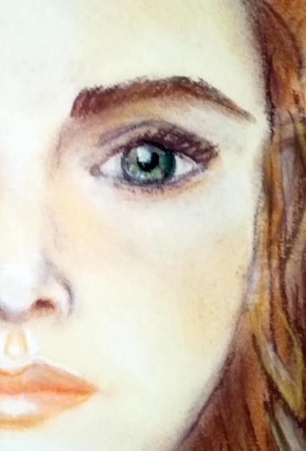 tekening pastelkrijt detail