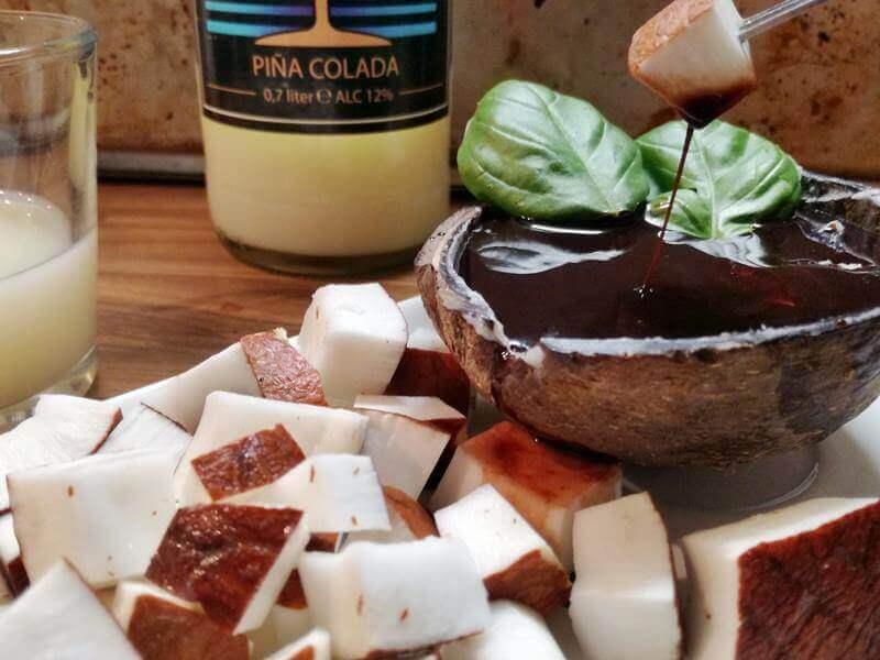 chocoladedip met pina colada