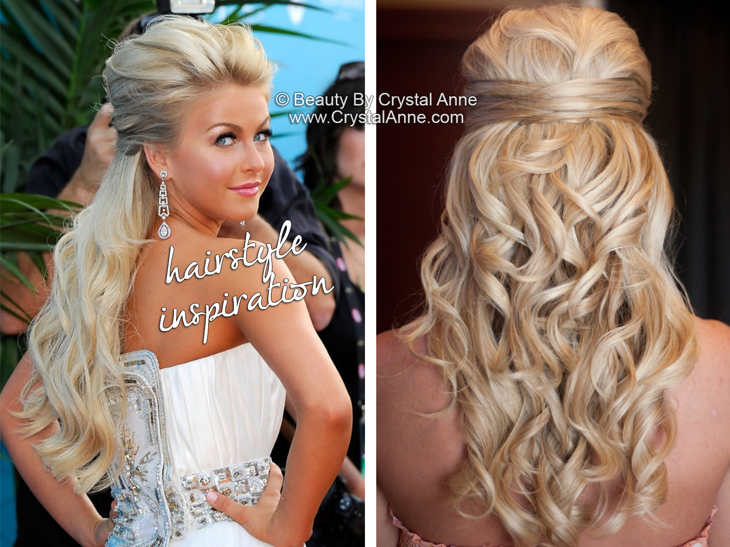 Julianne Hough Inspired Half Up Bridal Hairstyle Houston