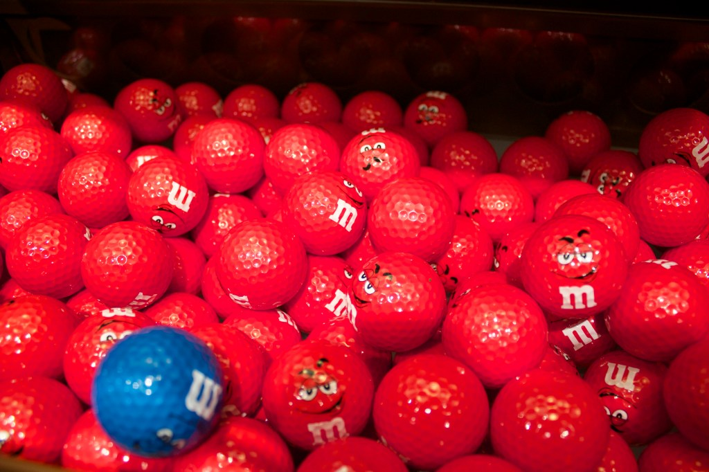 Golf. Balls. They had M & M golf balls. Life will never be the same.
