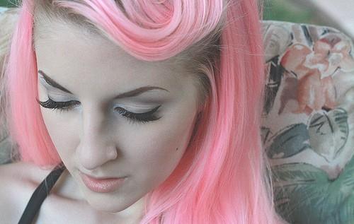 pretty pastel pink hair