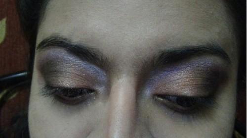 smokey bronze and purple eyes