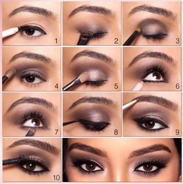 Kim Kardashian Smokey-Eyes – Step by Step | The Beauty ...