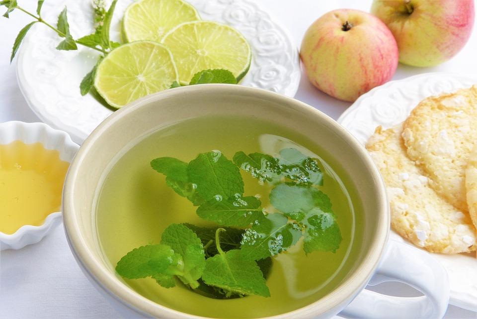 Growing Herbs for Tea Lemon Balm Tea Pixabay image