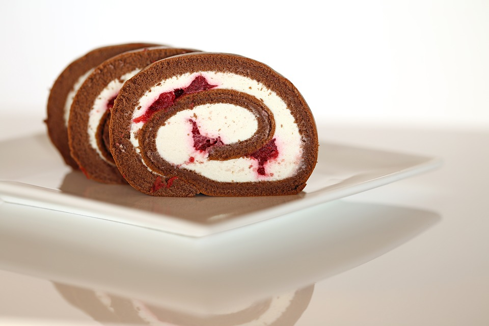Filled Cake Roll Slices Pixibay Image Showing Incredible Pumpkin Cake Roll