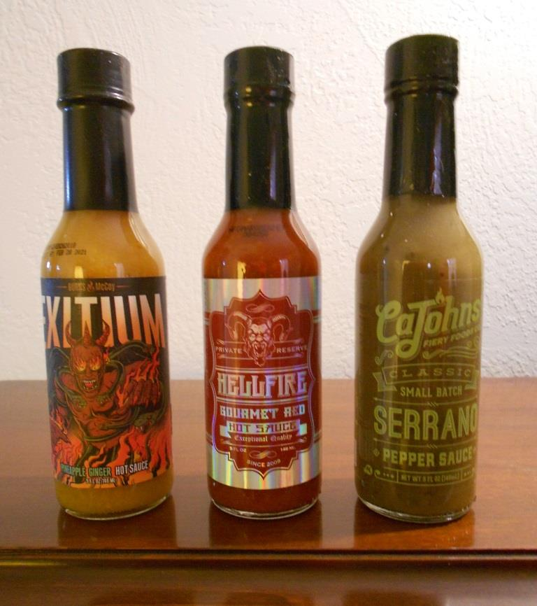 Fuego Box April 2018 Hot Sauce Trio