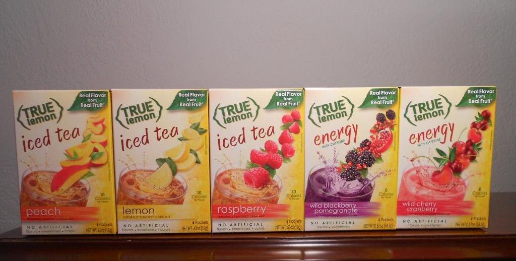 True Citrus Products Iced Teas and Energy Drinks