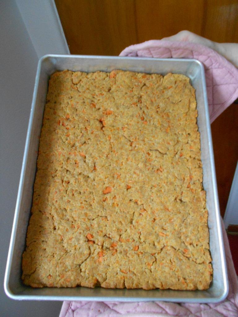 Carrots Bars with Molasses-Coconut Frosting, Unfrosted