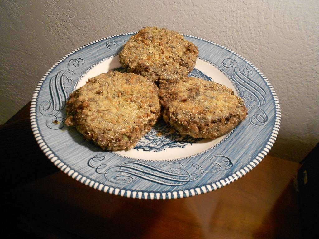 Black Bean Patties Plain Without Topping