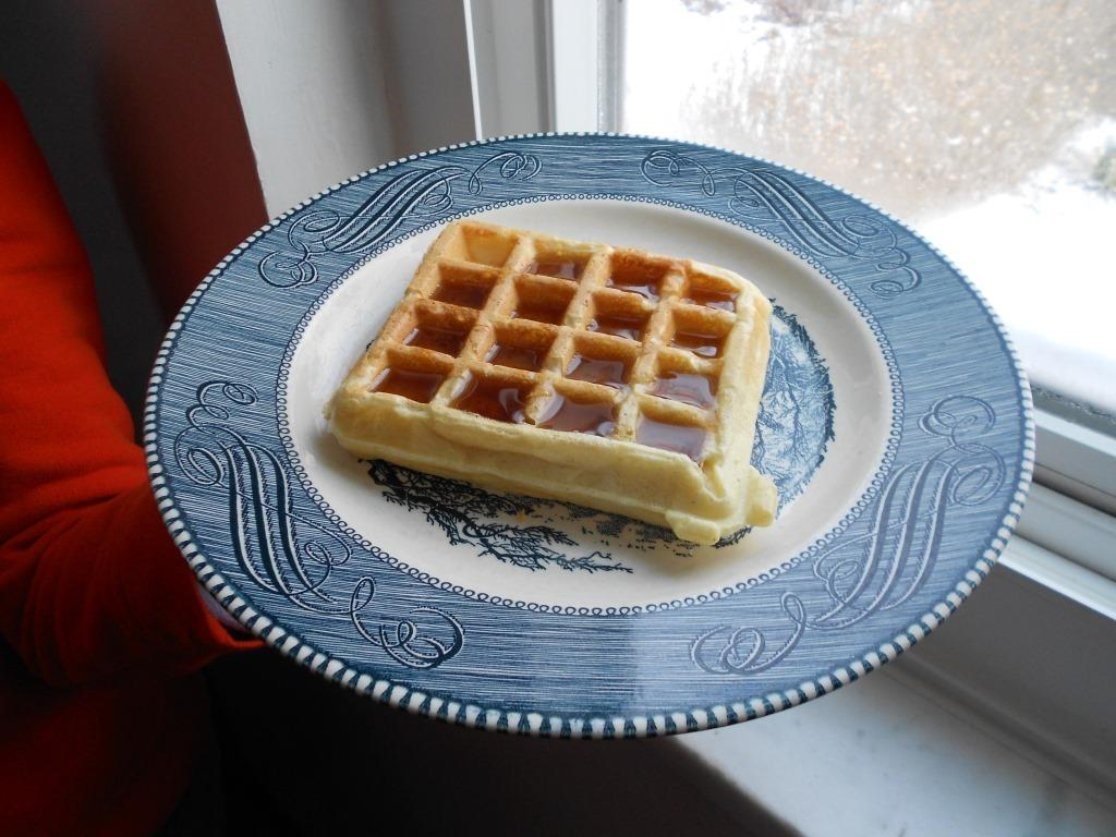 Gingerbread Waffles with Syrup