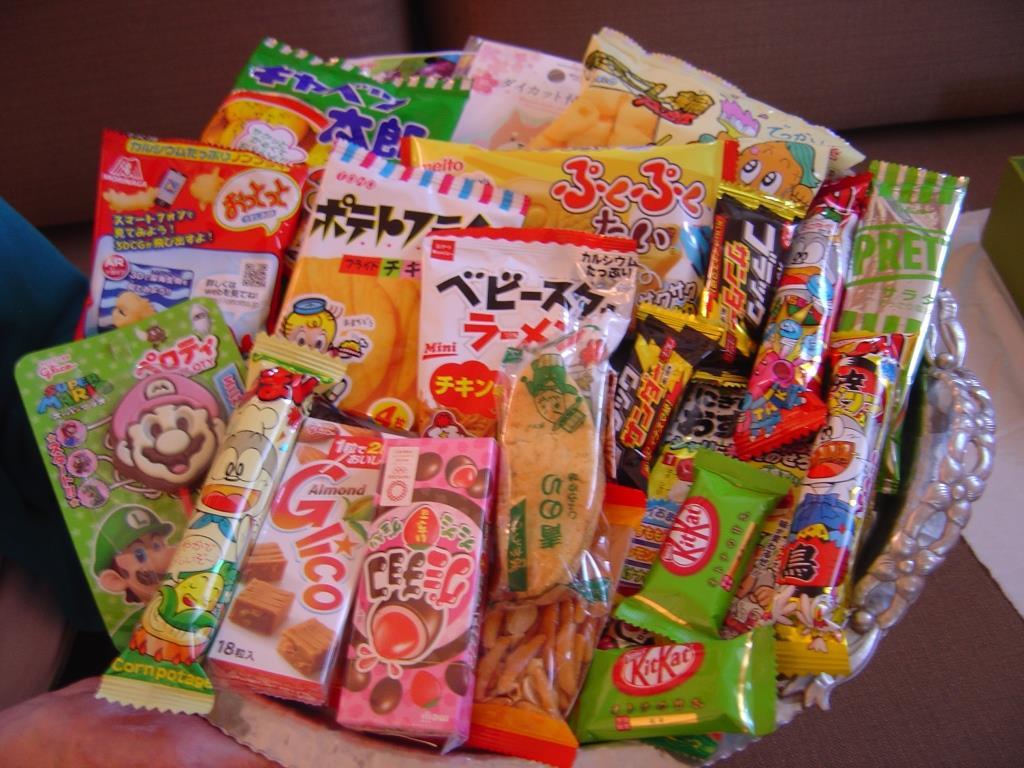 Japan Okashi Snack Box on tray