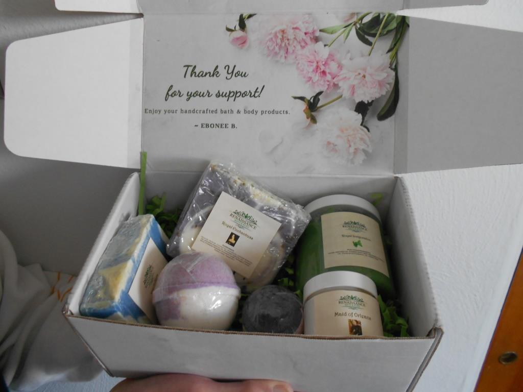 Renaissance Bath Subscription Box up close