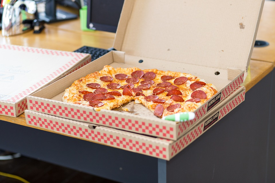 Germiest Things You Touch Sharing Pizza at the Workplace