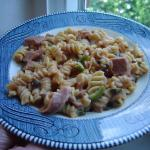 Canned Ham Tomato-Mushroom Casserole