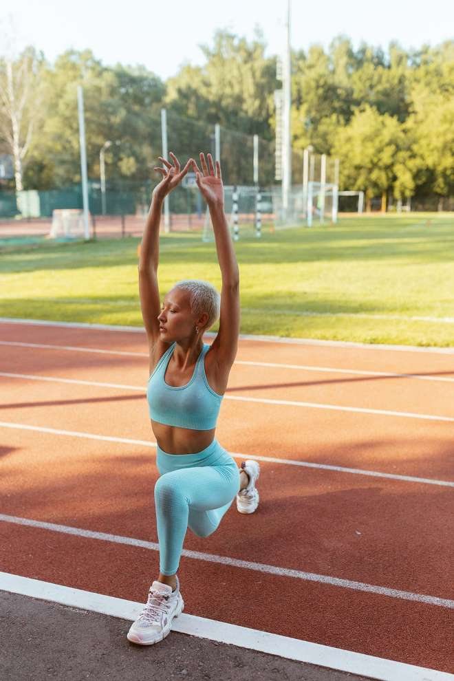 Extend Average Lifespan Woman Stretching Before Exercise