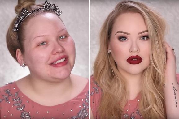 com e sem maquiagem Nikkie Tutorials