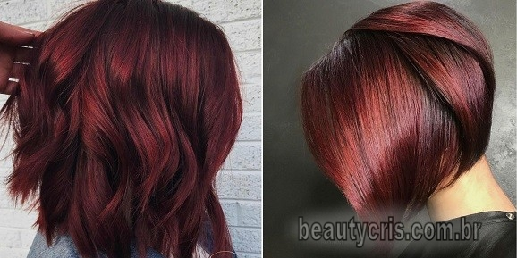 cabelo curto inverno mulled wine hair