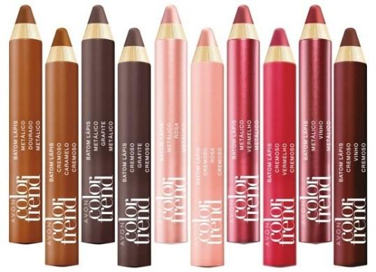 batons lápis avon color trend
