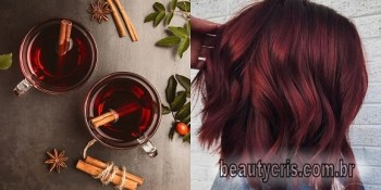 "cabelo mulled wine - Tendência: Cabelo na cor ""vinho quente""- Mulled Wine Hair"