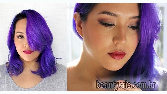 cabelo roxo- ultra violet