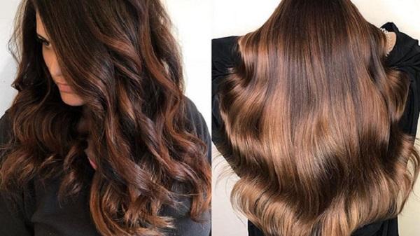 cabelo escuro iluminado inverno
