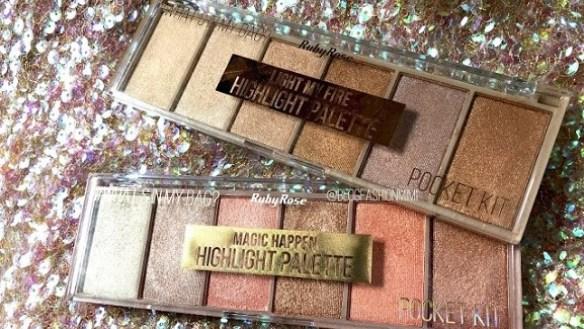 Ruby Rose: Novas paletas de iluminadores- Highlight Palette