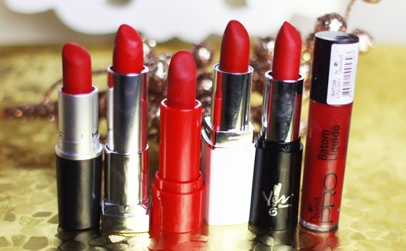 batons vermelhos dupe do Ruby Woo