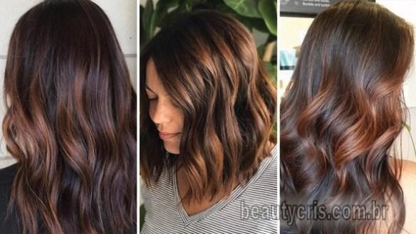 cabelos marrons verão