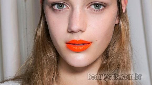 batom laranja tendencia