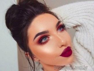 <p>Sombra avermelhada é tendência em maquiagem na temporada primavera- verão 2019. Saiba como usar sombra vermelha e fique na moda!</p>