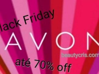 <p>Black Friday Avon, com descontos de até 70%. Você encontra diversos itens em maquiagem, e produtos com aquele precinho super camarada!</p>