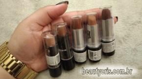 5 batons amarronzados queen make up mate - Queen Make Up: Batons Amarronzados Mate baratinhos