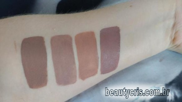swatches Angelina, Luanda, Nefertari, Julia