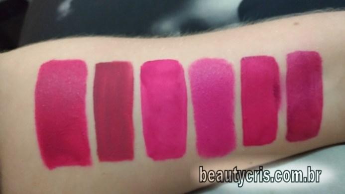 Comparações com o batom líquido pink matte avon mark