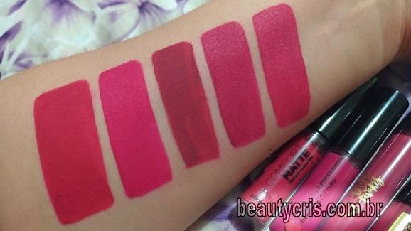 comparativos batom new scarlet pink make b