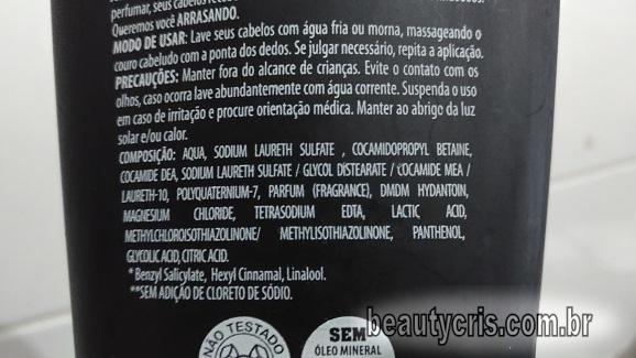 composicao shampoo progressiva caseira muriel