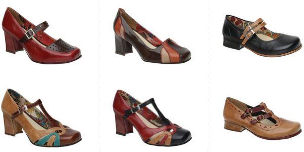 sapatos-femininos-retro-vintage Coleção de Sapatos Retrô – Boneca Vintage