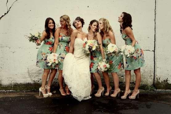 vestidos estampados para madrinhas de casamento