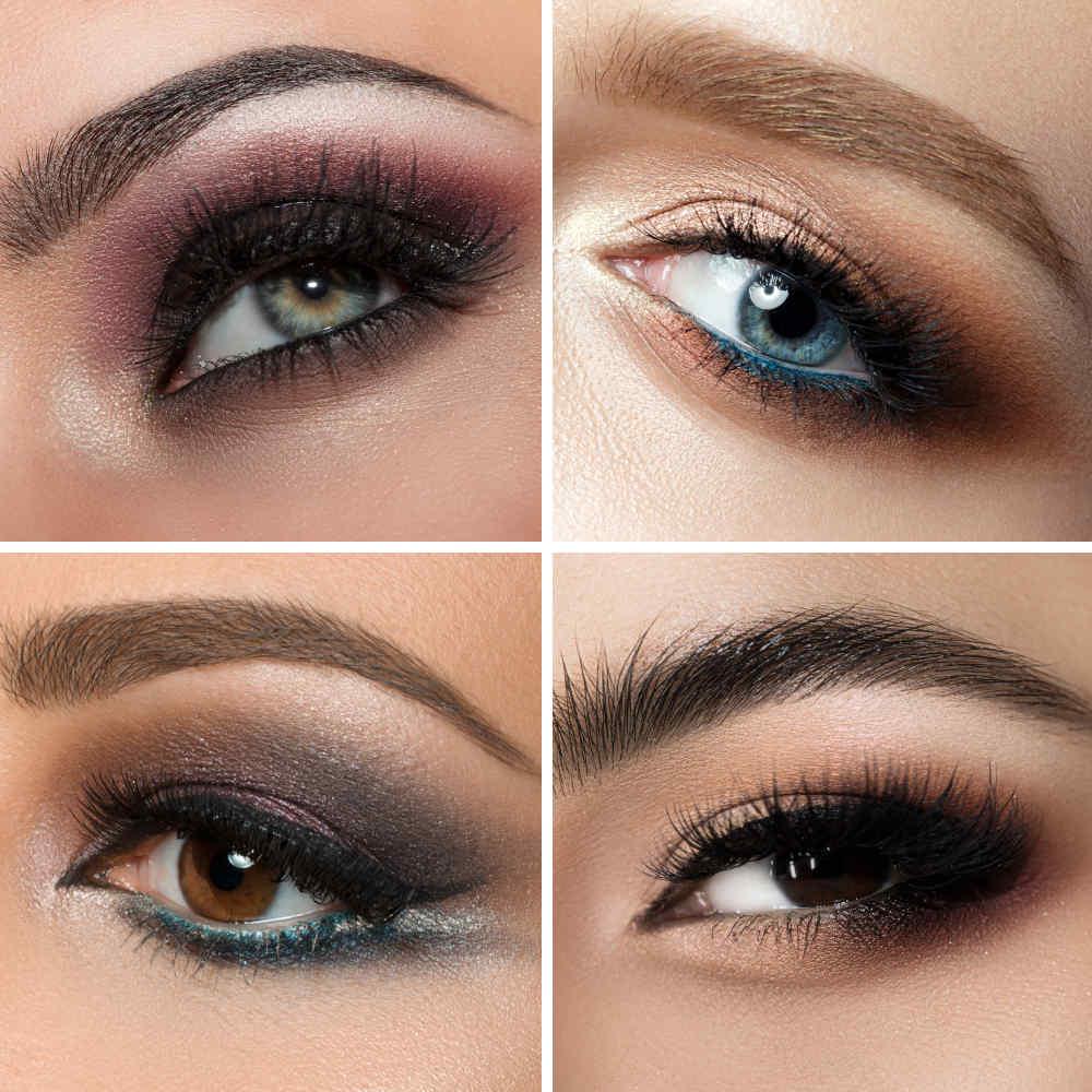 Trucco con tonalità ombretti complementari al colore occhi