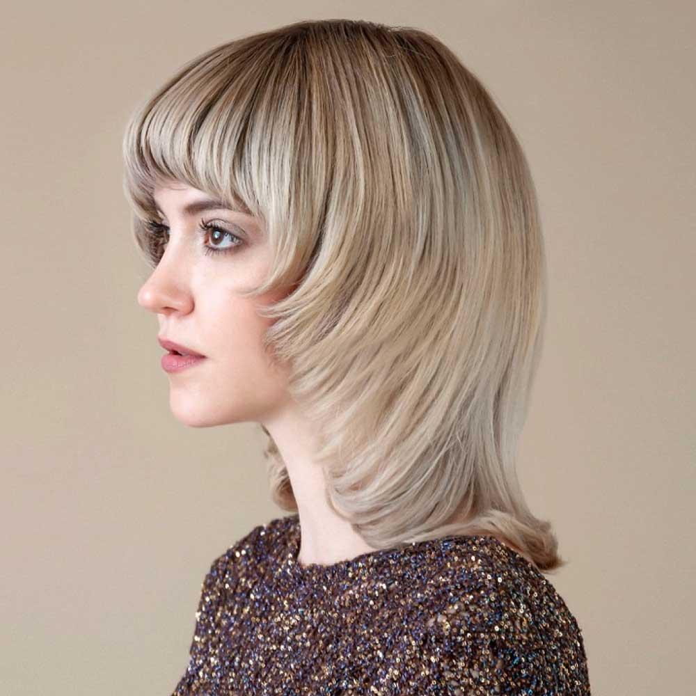 Tagli capelli medi frangia inverno