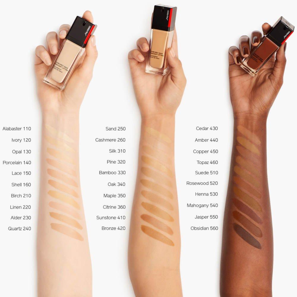 Swatches fondotinta Shiseido