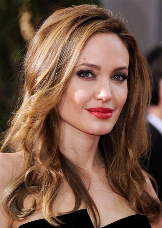 Angelina Jolie Medium Blonde Hairstyles