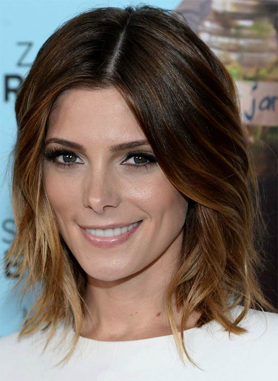 Brown ombre Long Bob Hairstyles